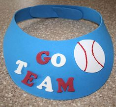 Find out how to create this fun 'Go Team' visor using craft foam and a few other supplies.