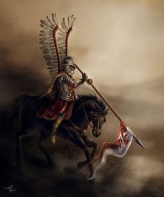 Polish Hussar by Shirvell on DeviantArt Battle Of Vienna, Polish Tattoos, Polish People, Patriotic Tattoos, Tattoo Project, My Family History, Viking Warrior, Arm Armor, Ancient History