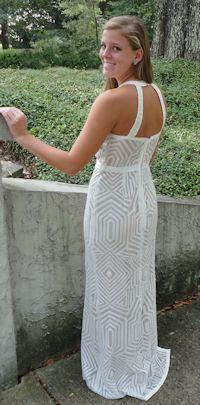 Laundry Embellished Sleeveless open Backed Gown