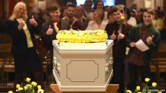 Stephen Sutton's coffin - funeral friends