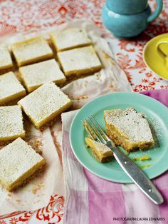 Lime and coconut slice