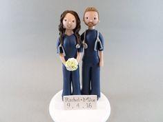 Unique Cake Toppers Custom Handmade Doctor & Nurse by mudcards