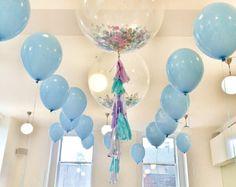 36 Confetti globo con borlas según lo visto en por onestylishparty