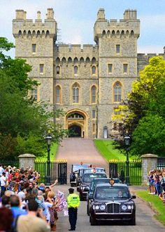Her Majesty The Queen  The Duke of Edinburgh seen leaving Windsor Castle in Berkshire, England on their way to Royal Ascot races 2014