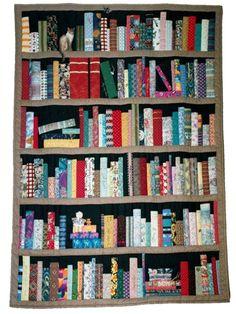 bookshelf quilt. WANT.