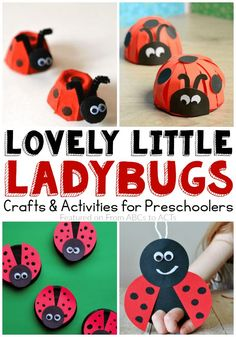Eagerly awaiting the arrival of Spring? These ladybug crafts and activities are the perfect way to welcome in the warmer weather! Spring Activities, Preschool Crafts, Preschool Activities, Vbs Crafts, Daycare Crafts, Easy Crafts For Kids, Projects For Kids, Caterpillar Craft, Hungry Caterpillar