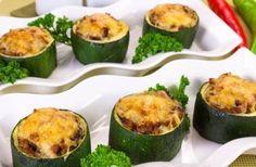 Gevulde courgette met gehakt, champignons en rijst