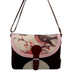 The Vintage Print Bird satchel bag features charming imagery of a robin singing, whilst perched on an apple blossom branch. It is the perfect gift for all lovers of vintage. This was my first Disaster Designs.