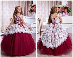 Burgundy Bridesmaid Dress, Burgundy lace dress, Burgundy lace dress, White Flower Girl Dress, Long S Lace Burgundy Dress, Burgundy Bridesmaid Dresses, Lace Dress, Dress Red, Dress Long, Toddler Flower Girl Dresses, Dresses Kids Girl, Ball Gown Dresses, Gowns