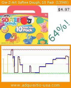 Cra-Z-Art Softee Dough, 10 Pack (13565) (Office Product). Drop 64%! Current price $4.97, the previous price was $13.93. https://www.adquisitio-usa.com/cra-z-art/softee-dough-10-pack