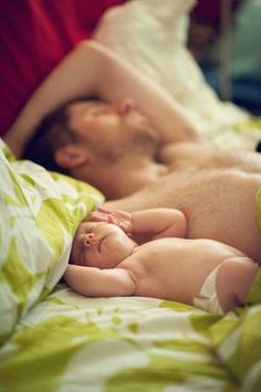oh baby and daddy like father like son. :)
