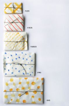 simple watercolor handmade wrapping paper