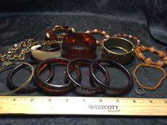 Lovely Lot of Vintage Bracelets- 'Mom's Disco Jewelry'- Estate Find- 266 Grams.