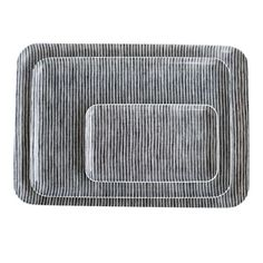 Gray Stripe Linen Tray