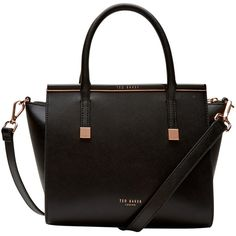Ted Baker Tabatha Crosshatch Leather Tote , Black (1.105 BRL) ❤ liked on Polyvore featuring bags, handbags, tote bags, black, black leather crossbody, purse crossbody, handbags totes, black tote bag en crossbody tote