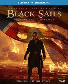 Starz released the official season 3 trailer and key art for its Emmy-winning Original series Black Sails. Check out the Black Sails Season 3 trailer! Black Sails Serie, Black Sails Tv Series, Black Sails Starz, Series Black, Captain Flint, Toby Stephens, Travis Fimmel, Ragnar Lothbrok, History Channel