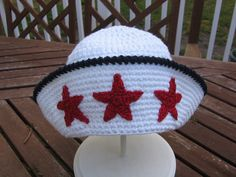Thursday Handmade Love Week 67 Theme: Sailor Includes links to #free #crochet patterns  Crochet Pattern Infant Baby BoysSammy The Sailor Hat - Pattern 107   Pattern Only via Etsy