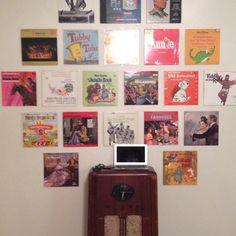 Hanging Records On Wall danielle's decor: rock on! cool projects with vinyl records