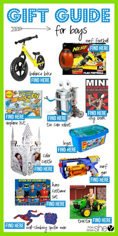 Gift Guide for Little Boys! #boygifts #giftguide #howdoesshe howdoesshe.com