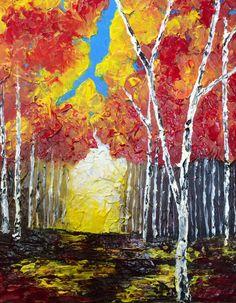 Into the Light, Original Acrylic Painting  #art #acrylic #acrylicpainting #painting #landscape