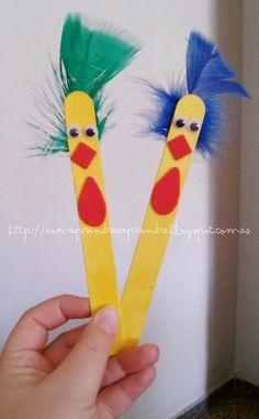 manualitats amb pals de polo - manualidades palos de polo -crafts popsicle sticks