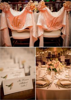 Pink Wedding Reception change to your color or white with grey decor