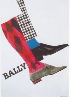 BALLY SWISS SHOE FASHION 1965