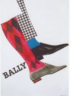 BALLY SWISS SHOE FASHION 1965