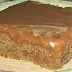 Peanut Butter Sheet Cake ~ It's made with peanut butter instead of chocolate! Wonderfully moist with a delicious peanut butter frosting..