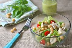 #MeatlessMonday: Grilled herbed tofu and chickpea salad