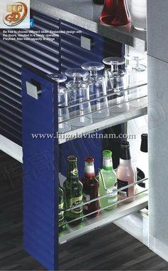Kệ dụng cụ hai tầng tủ bếp Higold - 304101