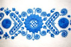 embroidery from Buzsak, Hungary - embroidered panel is part of a sewing kit for a peasant blouse