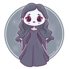 On with the Hogwarts Ghost series! The Grey Lady (Helena Ravenclaw) is such an interesting character! Fanart Harry Potter, Arte Do Harry Potter, Harry Potter Cartoon, Cute Harry Potter, Images Harry Potter, Harry Potter Drawings, Harry Potter Universal, Harry Potter Fandom, Harry Potter Characters