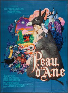 Directed by Jacques Demy. With Catherine Deneuve, Jean Marais, Jacques Perrin, Micheline Presle. A fairy godmother helps a princess disguise herself so she won't have to marry a man she doesn't love. Jacques Demy, Films Cinema, Cinema Posters, Movie Posters, Film D, Film Movie, Film Musical, Bodo, Digital Illustration