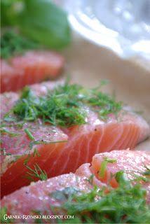 Garnek Rzymski: Pieczony łosoś Seaweed Salad, Ethnic Recipes, Challenge, Board, Planks