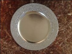 DIY Bling Charger :  wedding bling charger silver Photo7e6dtu