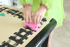 Train Track Paper Play Mat {Inspired by Freight Train} - Mama.