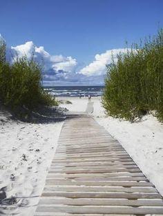 Photographic Print: Boardwalk Leading to Beach, Liepaja, Latvia by Ian Trower : 24x18in