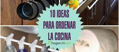 A continuación os dejamos nuestras 10 ideas favoritas para ordenar la cocina de una forma original y práctica. ¡No te las pierdas!