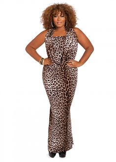 f5281c5fbd Ashley Stewart  Web Exclusive  Animal Print Dress--A gorgeous print that  flatters curves! LoveFifi Lingerie
