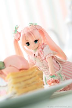 This One Looks Like Pinky Pie From My Little Pony Equestria Girls Pretty Dolls, Cute Dolls, Beautiful Dolls, Anime Dolls, Blythe Dolls, Barbie Dolls, Kawaii Doll, Kawaii Anime, Cool Anime Girl