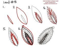 How to draw Paisley Leaf 08 by Quaddles-Roost on DeviantArt