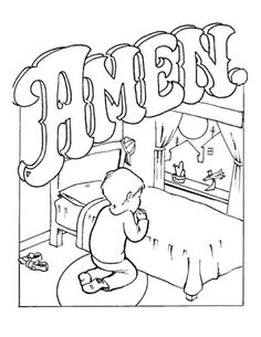 free Lord's prayer coloring pages book
