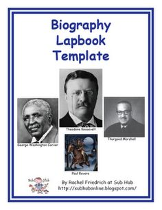 Classroom Freebies Too: How About a Biography Lapbook Template? 5th Grade Social Studies, Social Studies Activities, Teaching Social Studies, Reading Activities, Teacher Freebies, Classroom Freebies, Classroom Ideas, Science Classroom, Social Science