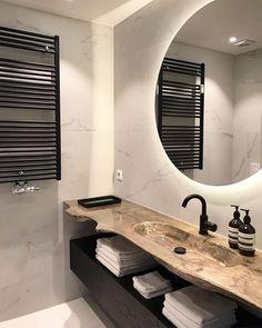 Bathroom Niche, Natural Bathroom, Downstairs Bathroom, Small Bathroom, Modern Bathroom Design, Bathroom Interior Design, Modern House Design, Bad Inspiration, Bathroom Inspiration