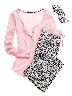 Cute pj's from Victoria's Secret! Cute Pjs, Cute Pajamas, Silk Pajamas, Vs Pajamas, Pijamas Women, Womens Pyjama Sets, Lingerie Sleepwear, Nightwear, Latest Fashion For Women