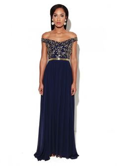 Juliana Dress Navy - Virgos Lounge