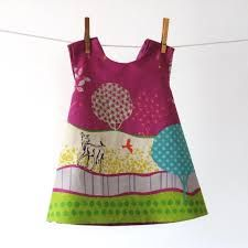 Reversible dress in Raspberry Grassy Plains by door allthenumbers Sewing Kids Clothes, Baby Kids Clothes, Sewing For Kids, Baby Sewing, Toddler Dress, Baby Dress, Reversible Dress, Little Doll, Sewing For Beginners
