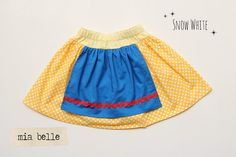Snow White Inspired Double Layer Twirl Skirt by MiaBelleShop