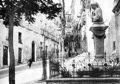 Cagliari - il busto di Dante Alighieri che stava nella piazzetta Dettori fino al 1943 , con la dedica degli studenti liceali 1912-1913.